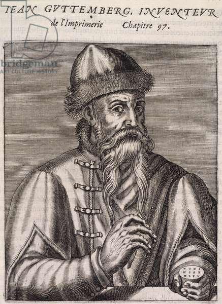 Johannes Gutenberg (1400-68). German printer
