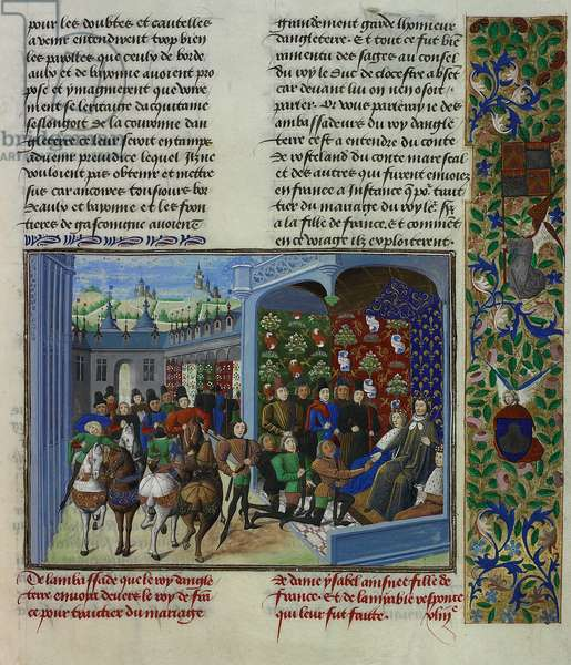 King Charles VI of France receives the English envoys