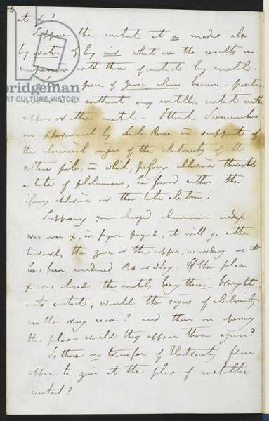 Add.48983 f.10 Faraday's telegraphy letter to William Thomson, 1859 (ink on paper)