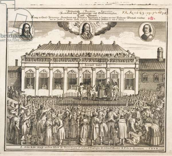 Execution of Charles I, illustration from 'Abscheulichste vnerh' (engraving)