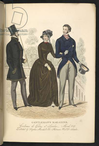 Costumes de Paris et Londres. March 1850. Plate 9.The Gentleman's Magazine of Fashion, Fancy Costumes, and the Regimentals of the Army.London, England : 1828