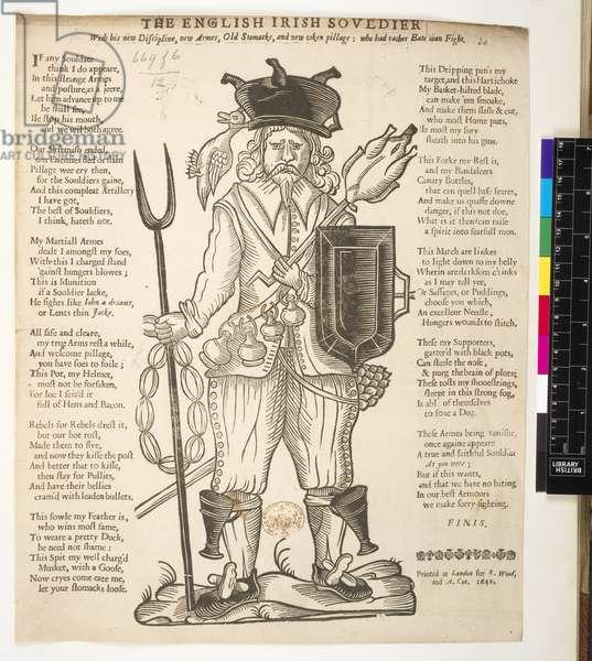 The English Irish Soldier, 1642 (print)