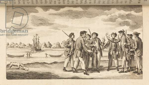 Press Gang, from 'Journal of the Resolution's voyage, in 1772, 1773, 1774, and 1775, on discovery to the southern hemisphere, by which the non-existence of an undiscovered continent, between the equator and the 50th degree of southern latitude, is demonstratively proved' by John Marra, 1775 (engraving)