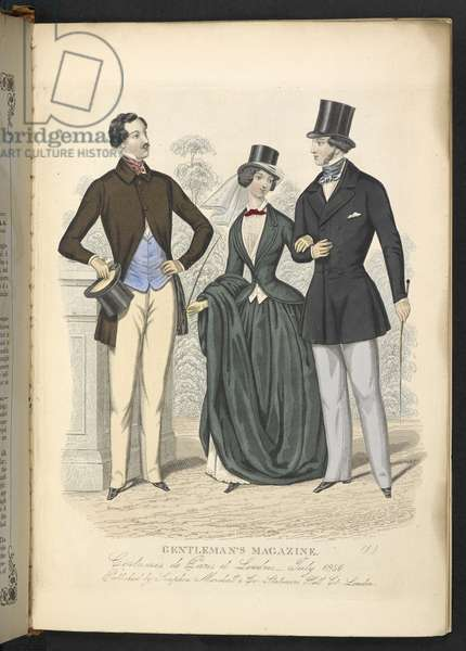 Costumes de Paris et Londres. July 1850. Plate 19.The Gentleman's Magazine of Fashion, Fancy Costumes, and the Regimentals of the Army.London, England : 1828