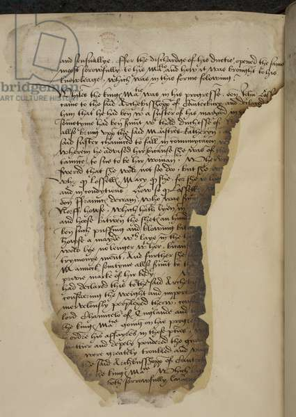 Letter of the Lords of the Council concerning Queen Katherine Howard's infidelities