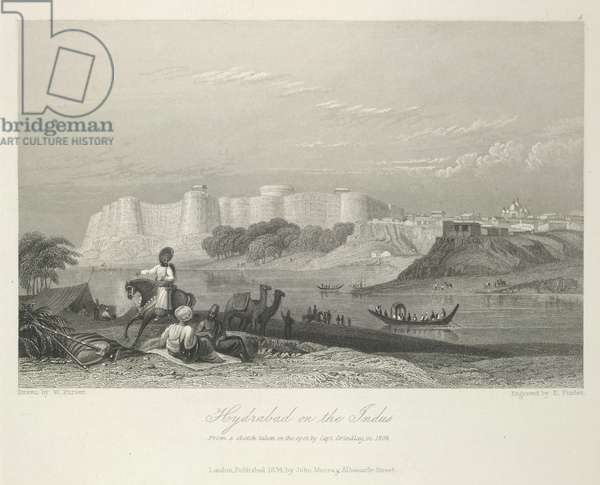 Hyderabad on the Indus. From a sketch taken on the spot by Capt. Grindlay in 1808