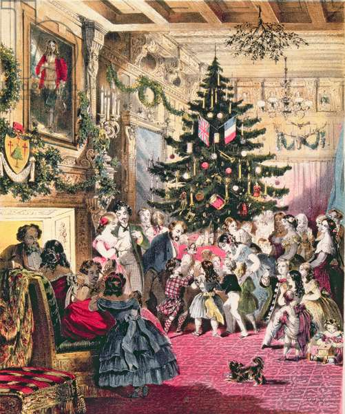 Cover of the score sheet of 'The Christmas Tree', written by J.E. Carpenter with music by Henry Farmer (colour litho) (see also see 349724)