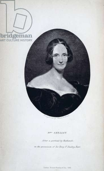 Mrs Shelley. Mary Wollstonecraft Shelley, née Godwin (1797-1851). English writer. Portrait. Author of the novel 'Frankenstein'.