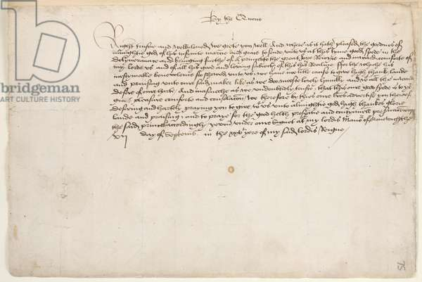 Anne Boleyn and Henry VIII letters announcing the birth of their first child
