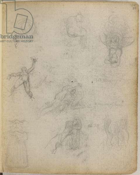 Emblem 49; sketches by Blake