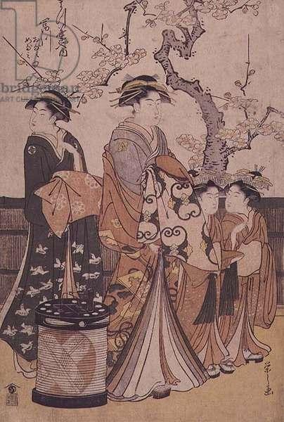 Tomikawa Otami of the Matsubaya by Hosoda Eishi (1756-1829) c.1800