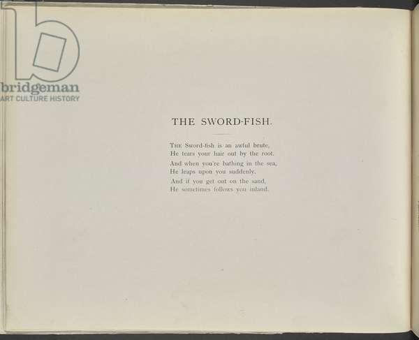 Poem: The swordfish.