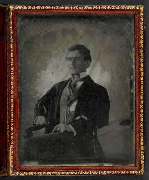 Portrait of Lieutenant-Colonel Sir Adam George Forbes Hogg, c.1860 (b/w photo)