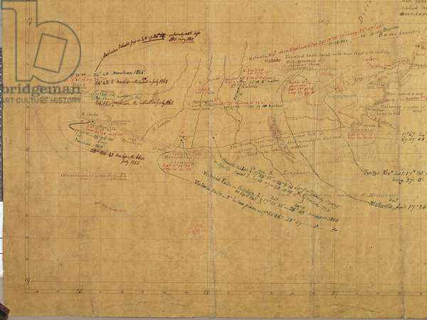 Chart of the Zambezi River, c.1850 (pen & ink on paper)