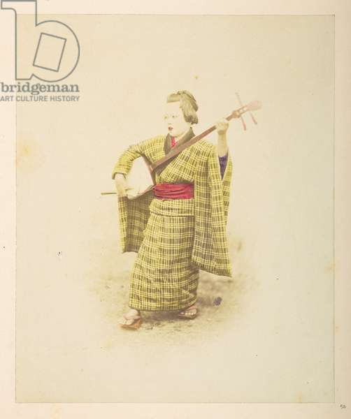 [Japanese] Street singer,  Photographer: UnknownLucas Collection: Photographic record of the world tour of Charles James and Morton P,  Lucas, 1877-79,