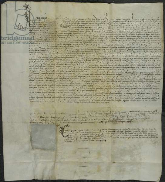 A letter recognising Henry VIII. as supreme head of the Church of England; 23 Oct. 1535. Lat . With signatures.