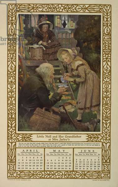 Children of Dickens. A Calendar for 1912 by Jessie Willcox Smith.