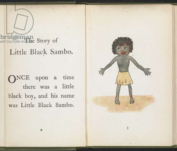 A little boy, from 'The Story of Little Black Sambo' by Helen Bannerman, 1899 (colour litho)