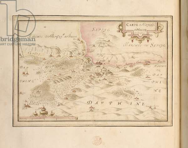 Add. 21117, f. 35v Hoste en Dauphiné, France, from 'MAPS, plans and views, of towns and fortresses in France', 1602-1608 (pen & ink on paper)