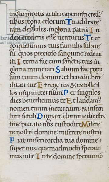 Text page; Te Deum