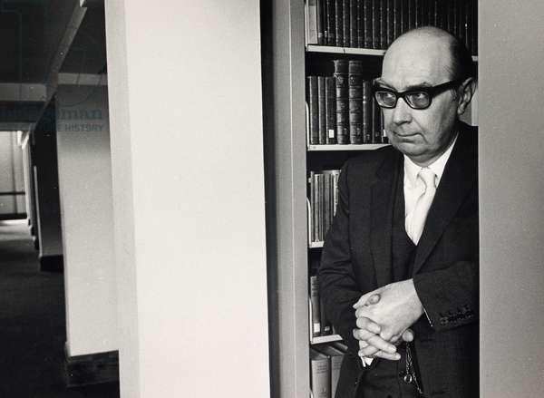 Philip Larkin, 1974 (b/w photo)