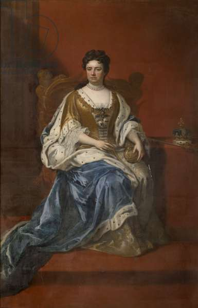Portrait of Queen Anne (oil on canvas)