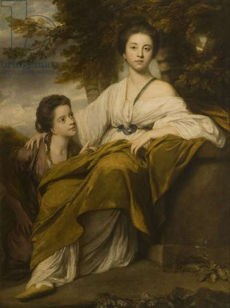 Double portrait of Lady Elizabeth Montagu and Lady Henrietta Montagu (oil on canvas)