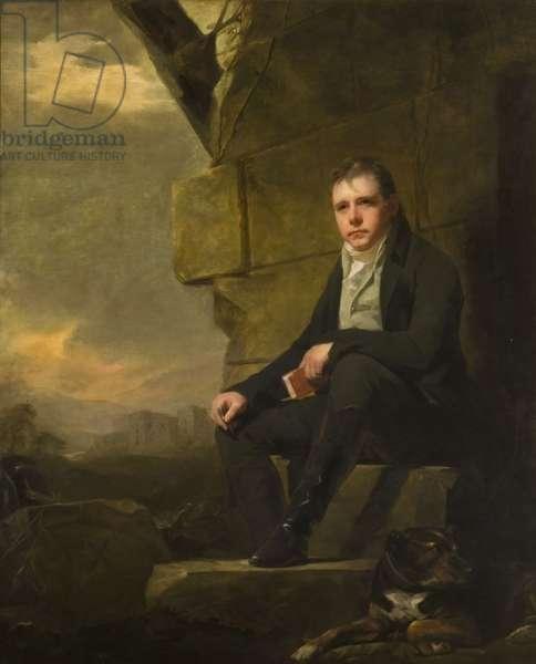 Portrait of Sir Walter Scott, 1st Baronet. (1771-1832),  (oil on canvas)