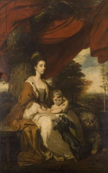 Elizabeth Montagu, Duchess of Buccleuch and her daughter Lady Mary Scott (oil on canvas)