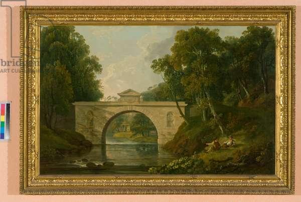 View of Montagu Bridge in Dalkeith Park (oil on canvas)