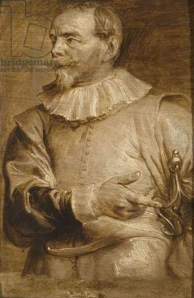 Portrait of Sebastian Vrancx, 17th century (oil on panel)