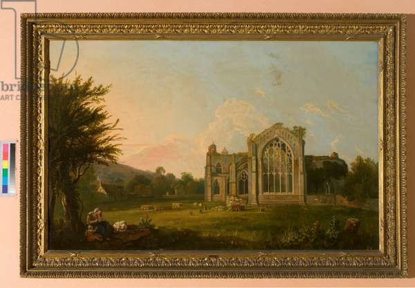 A view of Melrose Abbey (oil on canvas)