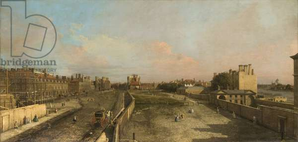 View of Whitehall, looking North, 1751 (oil on canvas)