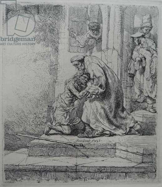 The Return of the Prodigal Son, 1636 (etching)