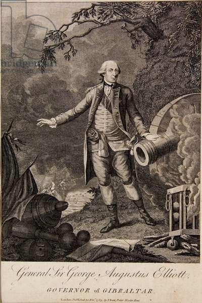 General Sir George Elliott, Governor of Gibraltar, 1783 (etching)