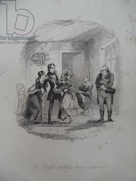 Mr Ralph Nickleby's honest composure, 1838 (engraving)