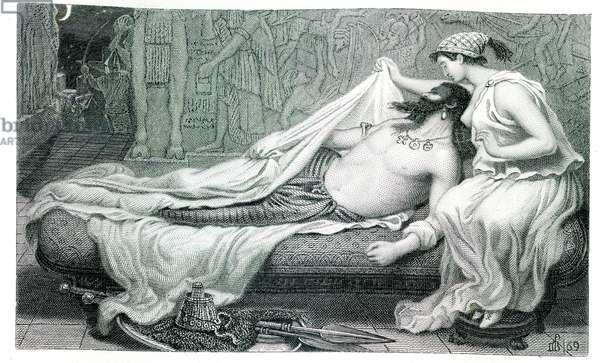Sardanapalus, 1869 (etching)