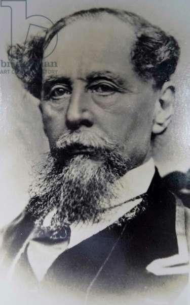Charles Dickens, 1860s (b/w photo)