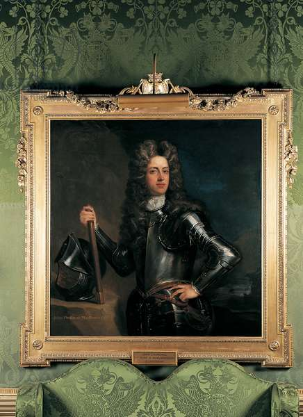 Portrait of the 1st Duke of Marlborough hanging in the Green Writing Room at Blenheim Palace (photo)