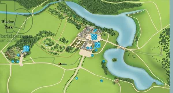 Map of Blenheim Palace and Bladon Park (digital image)