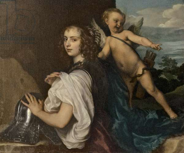 Margaret Lemon as Erminia, c.1638 (oil on canvas)