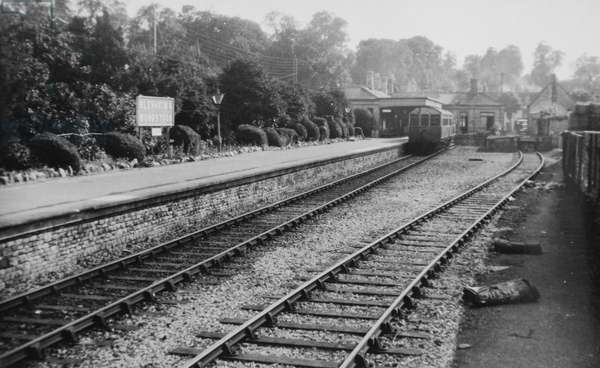 Blenheim and Woodstock Station (b/w photo)