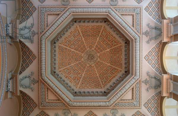 Ceiling of the Long Library at Blenheim Palace (photo)