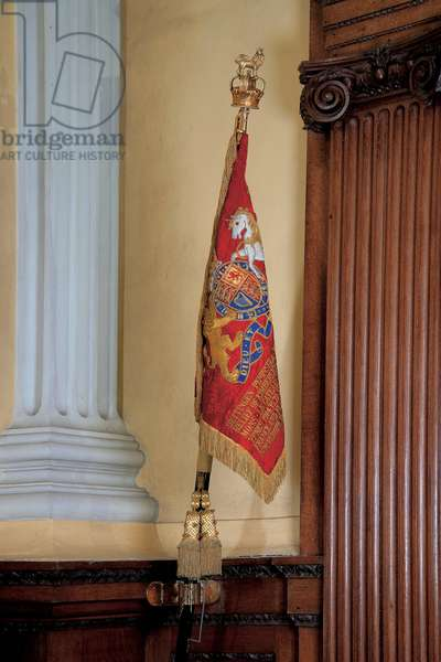 The Sovereign's Standard of the Life Guards in the Chapel of Blenheim Palace (photo)