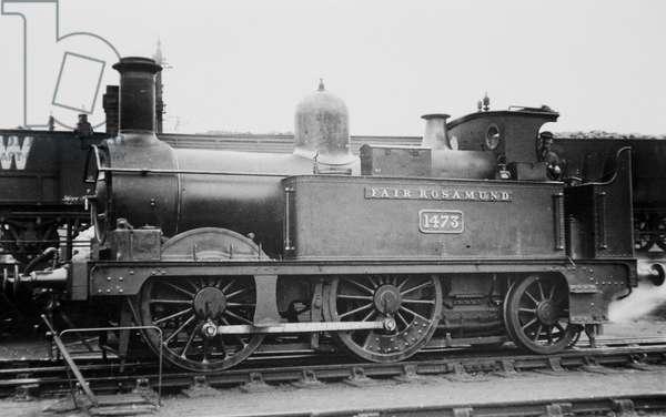 'Fair Rosamund' at Woodstock Station (b/w photo)