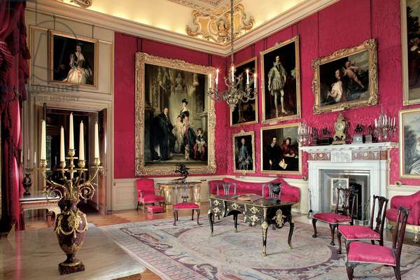 The Red Drawing Room, Blenheim Palace, Oxfordshire, UK (photo)