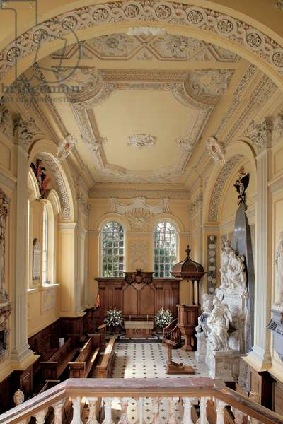 The Chapel from the upper entrance, Blenheim Palace, Oxfordshire (photo)