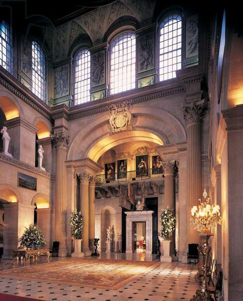 View of the Great Hall at Blenheim Palace, Oxfordshire, UK (photo)