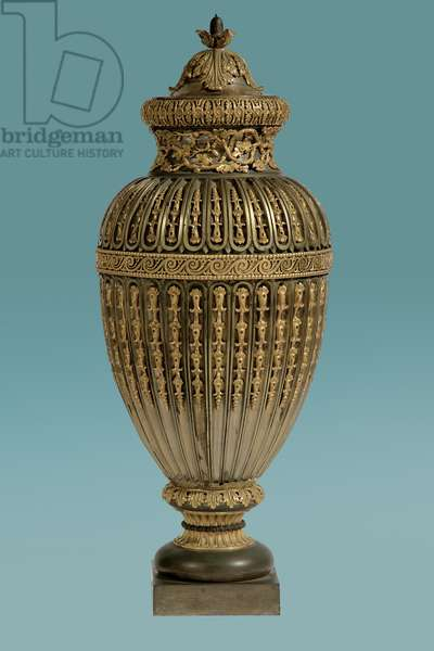 Vase, late 18th-19th century (silver & gilt tula bronze)