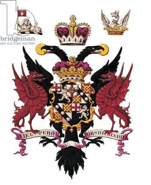 Armorial Bearing of the 1st Duke of Marlborough (litho)
